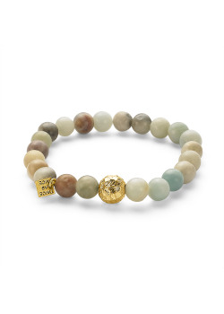 High fashion bracelet, gold, turquoise and grey balls