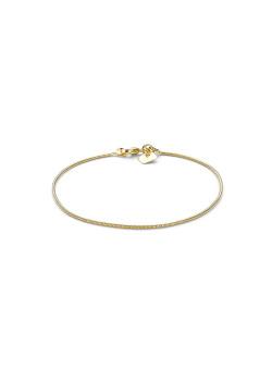 Bracelet plaqué or 18ct, maille serpent