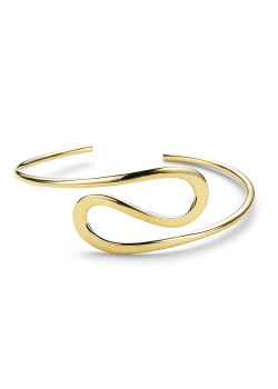 bangle in 18kt plaqué goud, zigzag