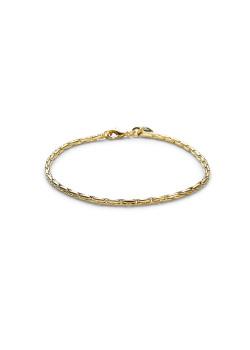 18ct gold plated bracelet, palmier link