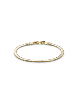 18ct gold plated bracelet, flat snake chain