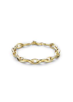 armband in 18kt plaqué goud, ellipsen