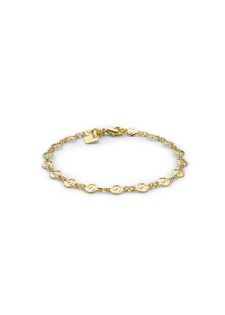 armband in 18kt plaqué goud, spiralen
