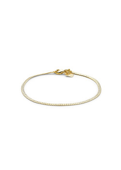 18ct gold plated bracelet, english link