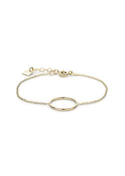 Armband in 18kt verguld zilver, cirkel van 22 mm