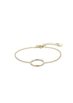 Armband in 18kt verguld zilver, cirkel van 16 mm