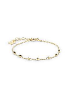 Armband in 18kt verguld zilver, bolletjes