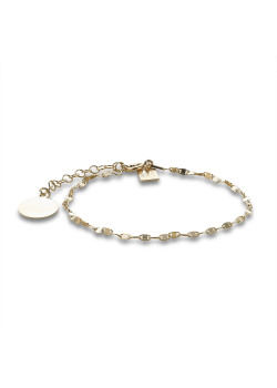 18ct gold plated silver bracelet, oval link, round