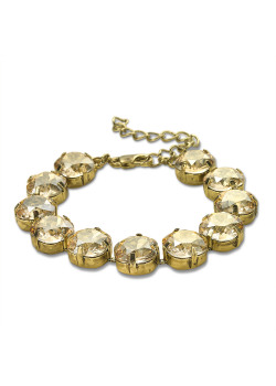 High fashion armband, goudkleurige stenen