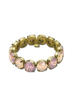 High fashion armband, roze stenen