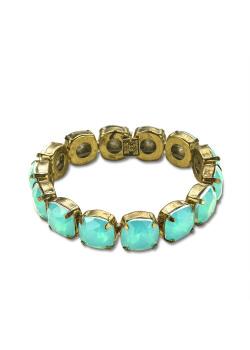 High fashion armband, turquoise stenen