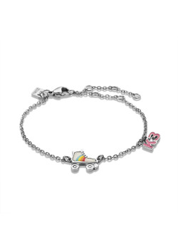 Collection K3, bracelet avec patin à roulettes en arc-en-ciel et K3