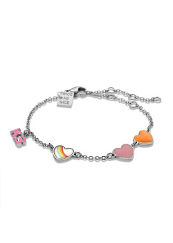 K3 collection, bracelet with 3 hearts and K3