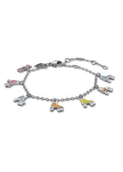 Collection K3, bracelet avec 6 patins à roulettes et K3