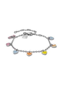 K3 collectie, armband met 6 hartjes en K3