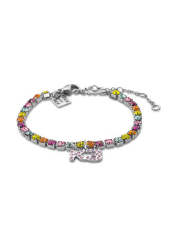 K3 collection, bracelet with multicoloured stones and K3