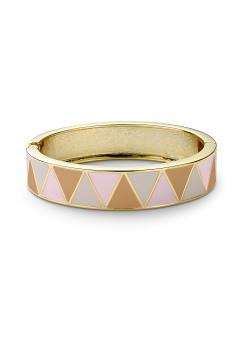 Bracelet clip en émail, Beige/Saumon/Rose