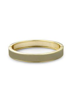 Bracelet clip en émail, kaki