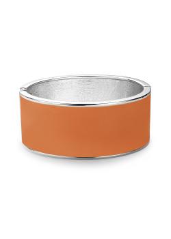 Bracelet clip en émail, orange