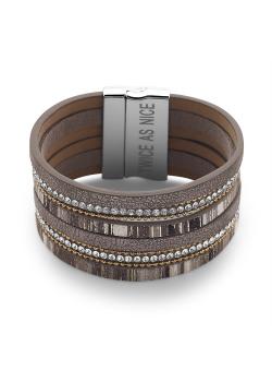 High fashion armband, grijs