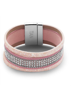 High fashion armband, roze en wit