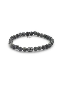 6 mm natural stone bracelet, buddha motif