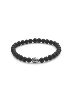 6 mm natural stone bracelet, buddha motif