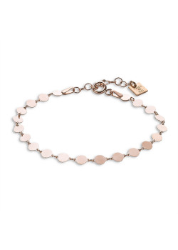 Armband in rosé zilver, rondjes