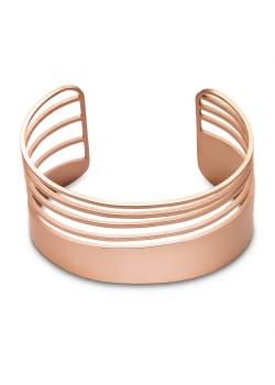 Armband in rosé edelstaal, bangle 5 rijen