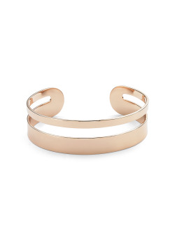 High fashion open rigide armband, rosé