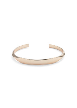 high fashion rigide armband, plat in het midden, rosé