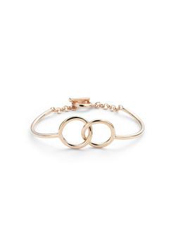 High fashion rigide armband, 2 cirkels, rosé