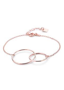 Bracelet en argent rosé, cercles