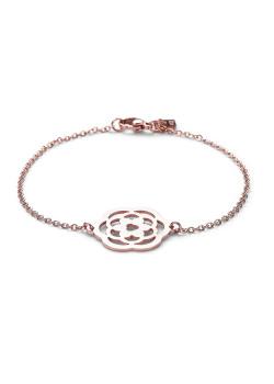 armband in rosé edelstaal, open bloem