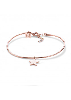 armband in rosé edelstaal, ster
