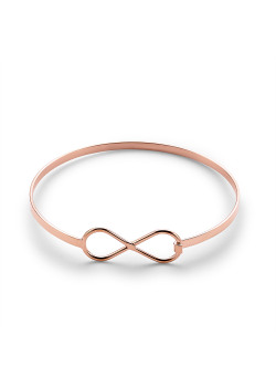 Armband in rosé edelstaal, infinity