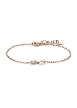 Armband in rosé zilver,  infinity motief