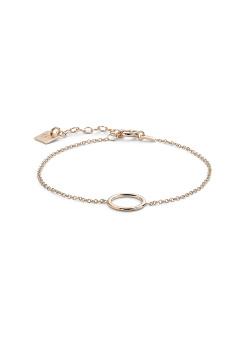 Armband in rosé zilver, gepolijste cirkel