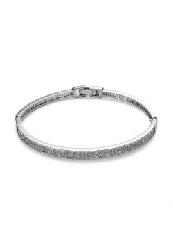 High fashion armband, bangle 2 rijen kristallen