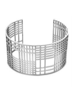 Armband in edelstaal, bangle, open vierkantjes, rechthoekjes