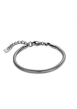 Armband in edelstaal, slangketting 3 mm