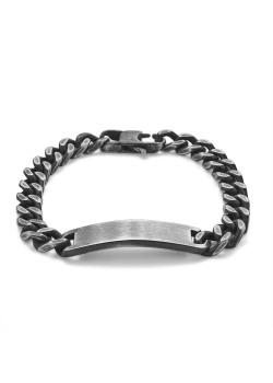 Armband in edelstaal, gourmet, rechthoekig centraal motief