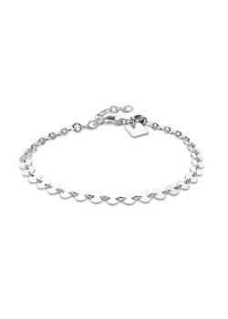 Armband in zilver, schakelketting rondjes