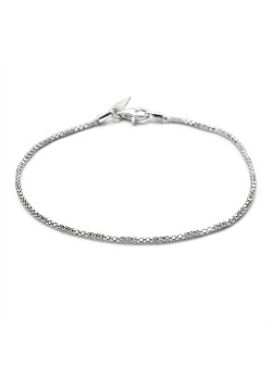 Silver bracelet, hollow snake chain