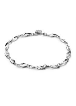 Armband in zilver, open gedraaide ruiten