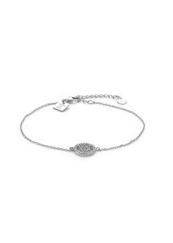 Armband in zilver, cirkel en ster in zirkonia