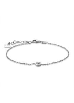Armband in zilver, zirkonia met rand
