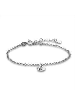 Armband in zilver, rondje, kruisje