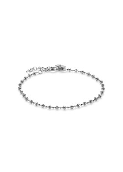Armband in zilver, bolletjesketting