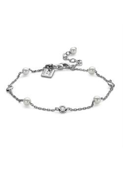 Bracelet en argent, perles, zirkons